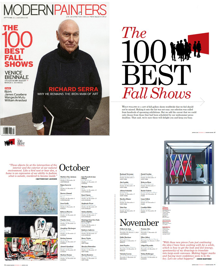Marylyn Dintenfass Art Info Top Fall 100