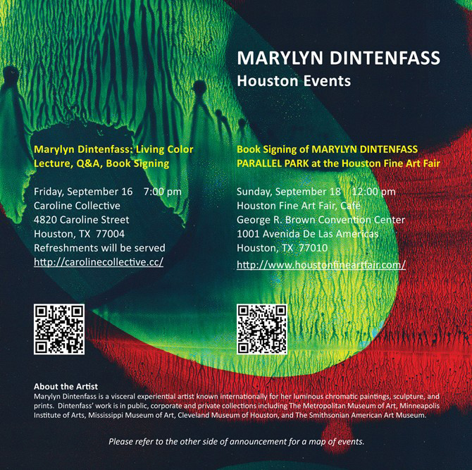 Marylyn Dintenfass-Houston Events